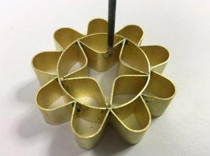 画像1: 揚げ菓子調理器具   カノム・ドークジョーク 9ホール(8cm)