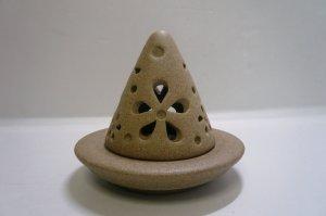 画像1: 香炉        素焼き風三角型