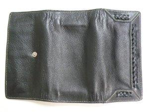 画像5: 長財布 編込み    三面開き 黒