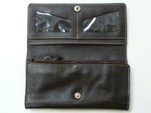 画像3: 長財布 編込み    三面開き こげ茶