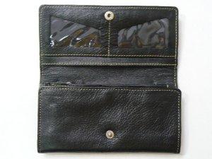 画像3: 長財布 編込み    三面開き 黒