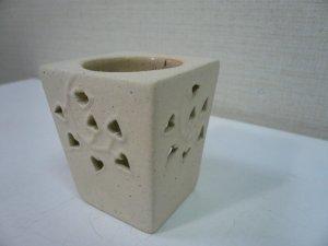 画像2: タイ製 香炉    ハート柄透かし    白色