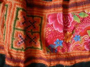 画像3: スカート セミロング(オレンジ系)