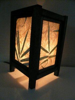 画像1: タイ製 あんどん   和紙笹 小