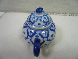 画像3:  青白陶器       急須丸・お醤油さし (小)