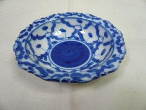 画像2:  青白陶器       小皿 11cm ギザ