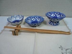 画像4:  青白陶器       小皿 11cm ギザ