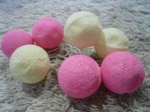 画像1: コットンボール     ピンク白