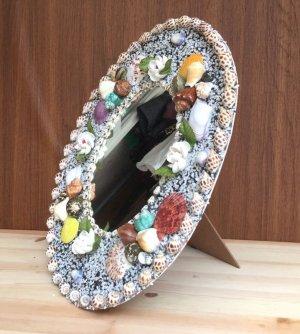 画像2: 貝細工の大きな鏡 スタンド&壁掛け式 【楕円サイズ】