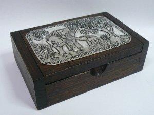 画像3: タイ製 飾り木箱  大B
