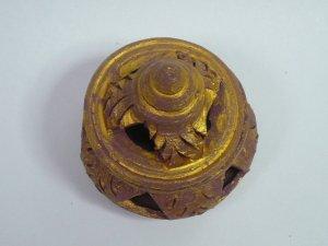画像3: タイ製 壺型香炉    ゴールド
