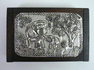 画像1: タイ製 飾り木箱  大B