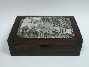 画像2: タイ製 飾り木箱  大A