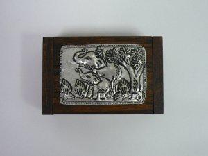 画像2: タイ製 木箱小  爪楊枝入れ