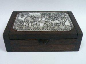 画像2: タイ製 飾り木箱  大B
