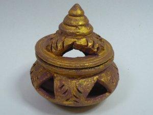 画像2: タイ製 壺型香炉    ゴールド