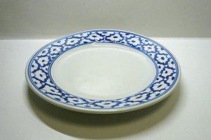画像4:  青白陶器      平皿  18cm