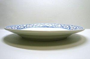 画像2:  青白陶器      平皿  18cm