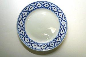 画像3:  青白陶器      平皿  18cm