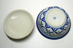 画像4:  青白陶器  蓋付きお椀13cm