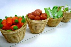 画像1: マグネット カゴ野菜