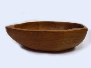 画像2: 天然チーク素材    木ノ葉型 小鉢