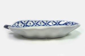 画像4:  青白陶器        パパイア型皿22cm