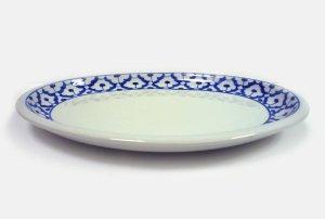画像3:  青白陶器 楕円 皿 26.5cm
