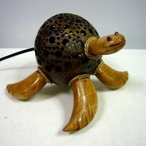 画像1: ココナッツランプ      アニマル(亀)
