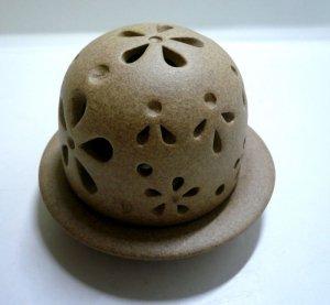 画像2: 香炉            素焼き風丸型