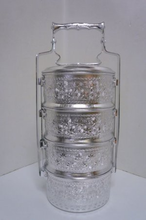 画像1: アルミ            4段弁当箱