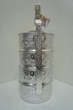 画像2: アルミ            4段弁当箱