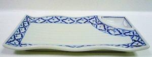 画像1:  青白陶器        長方形皿(薬味)