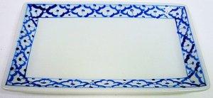 画像1:  青白陶器 長方形皿(大)23cm
