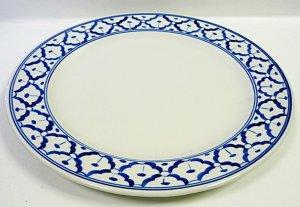 画像1:  青白陶器       平皿    23cm