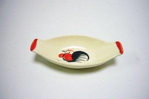 画像1: にわとり柄        小皿 舟形
