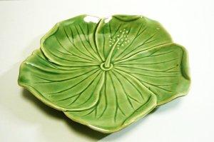 画像2: ハイビスカス柄 皿(小) 20cm