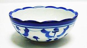 画像1:  青白陶器       波小皿 7.5cm