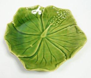 画像1: ハイビスカス柄 皿(小) 20cm