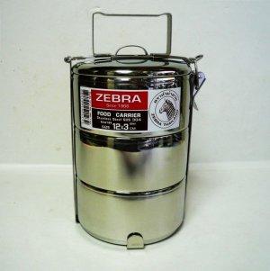 画像1: ZEBRA3段式弁当箱   12×3   ステンレス製ランチボックス