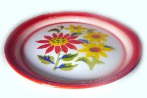 画像4: (2) ホーローお皿     25cm お花4