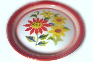 画像3: (2) ホーローお皿     25cm お花4