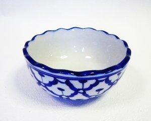 画像1: 青白陶器      ボール型 (小)11cm