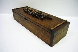 画像2: カトラリーケース木箱(大)象立体