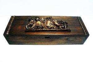 画像1: カトラリーケース木箱(大)象立体