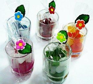画像1: アロマキャンドル   グラス(サイコロ)