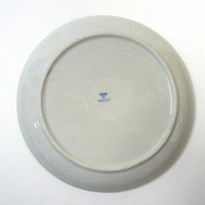 画像4:  青白陶器        平皿 16cm