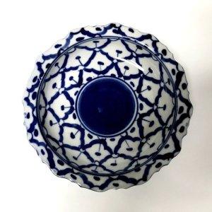 画像3: 青白陶器 花型ギザ15cm