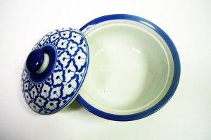 画像5:  青白陶器  蓋付きお椀19cm