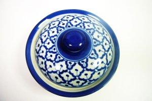 画像3:  青白陶器  蓋付きお椀19cm